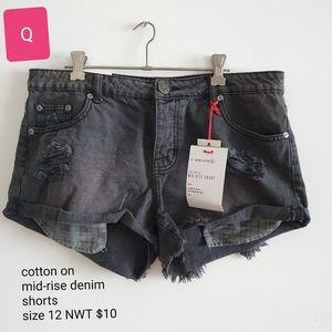Cotton on mid-sized denim shorts NWT size 12